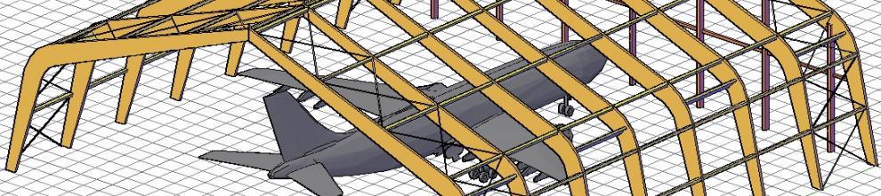 Ангар для профилактического ремонта самолета A320